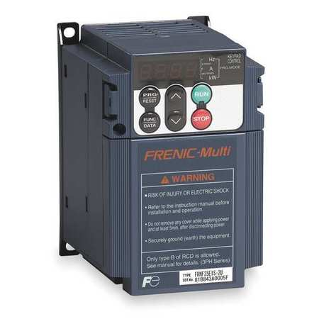 FUJI ELECTRIC FRNF50E1S-7U Variable Frequency Drive, 1/2 HP, 200-230V