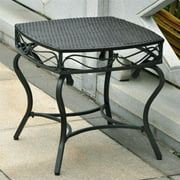 International Caravan Valencia Resin Wicker/ Steel Side Table
