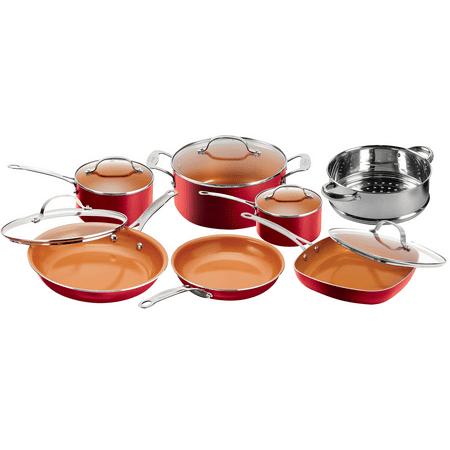 Gotham Steel 12 Piece Nonstick Frying Pan And Cookware Set