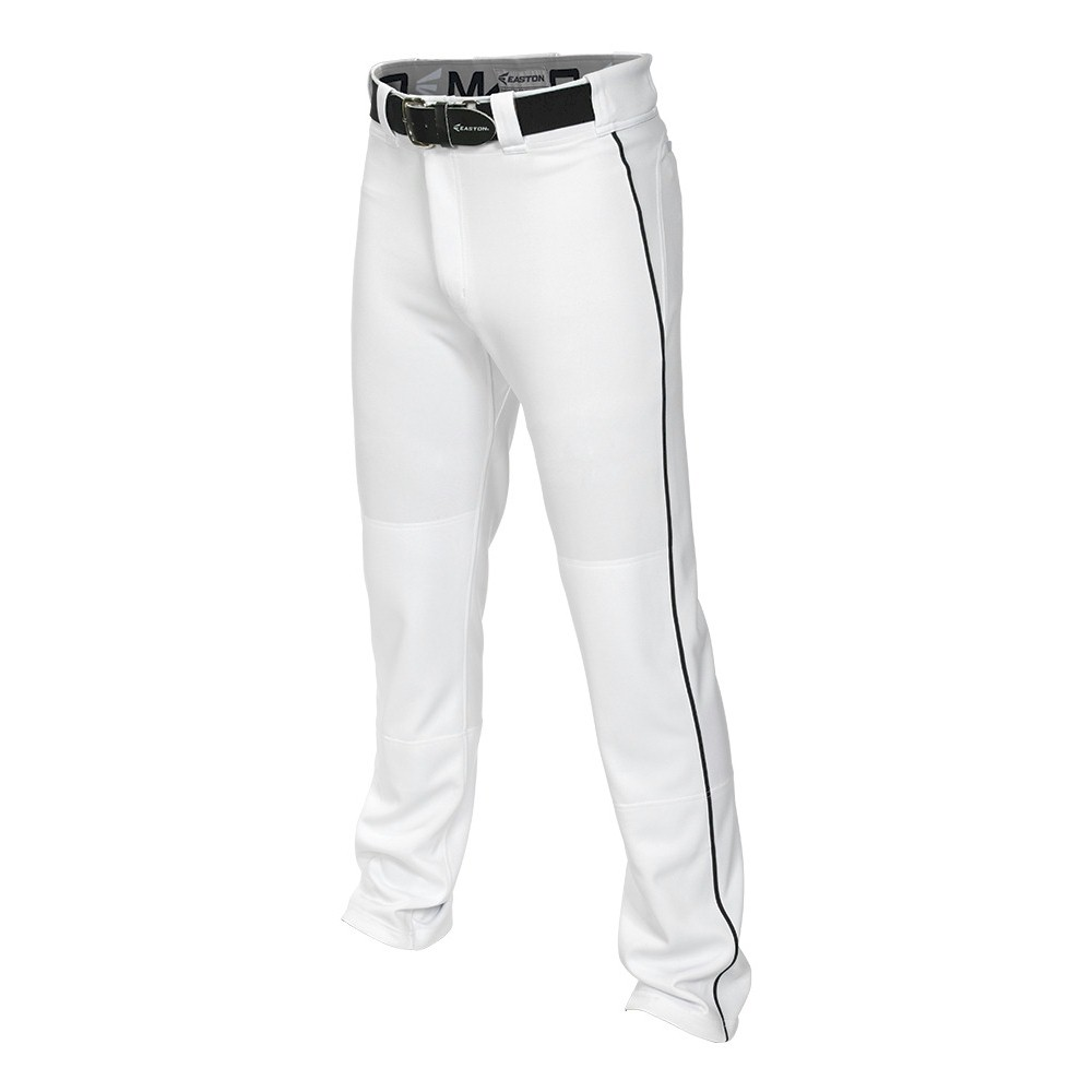 Easton MAKO2 Piped Boys Baseball Pant - White/Black - Siz...