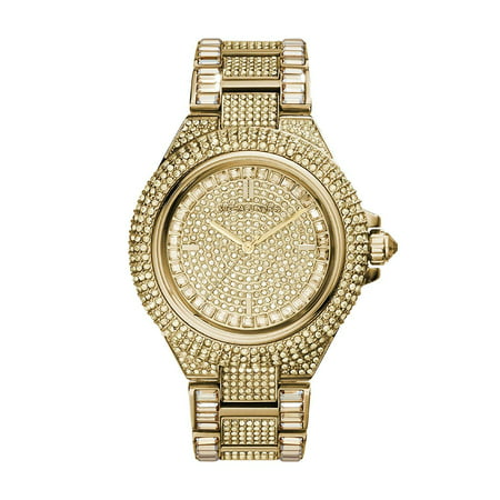 Michael Kors Women's Camille Crystal Gold-Tone Stainless Steel Watch (Best Replica Michael Kors Watches)