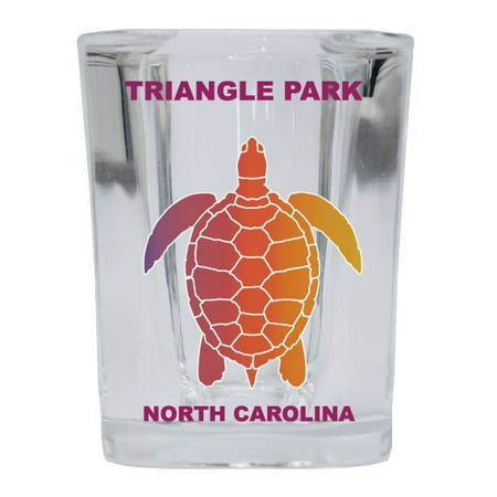 TRIANGLE PARK Square Shot Glass Rainbow Turtle (Triangle Glasses)