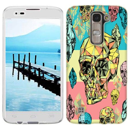 Mundaze Diamond Skulls Phone Case Cover for LG G Stylo 2 Plus ()
