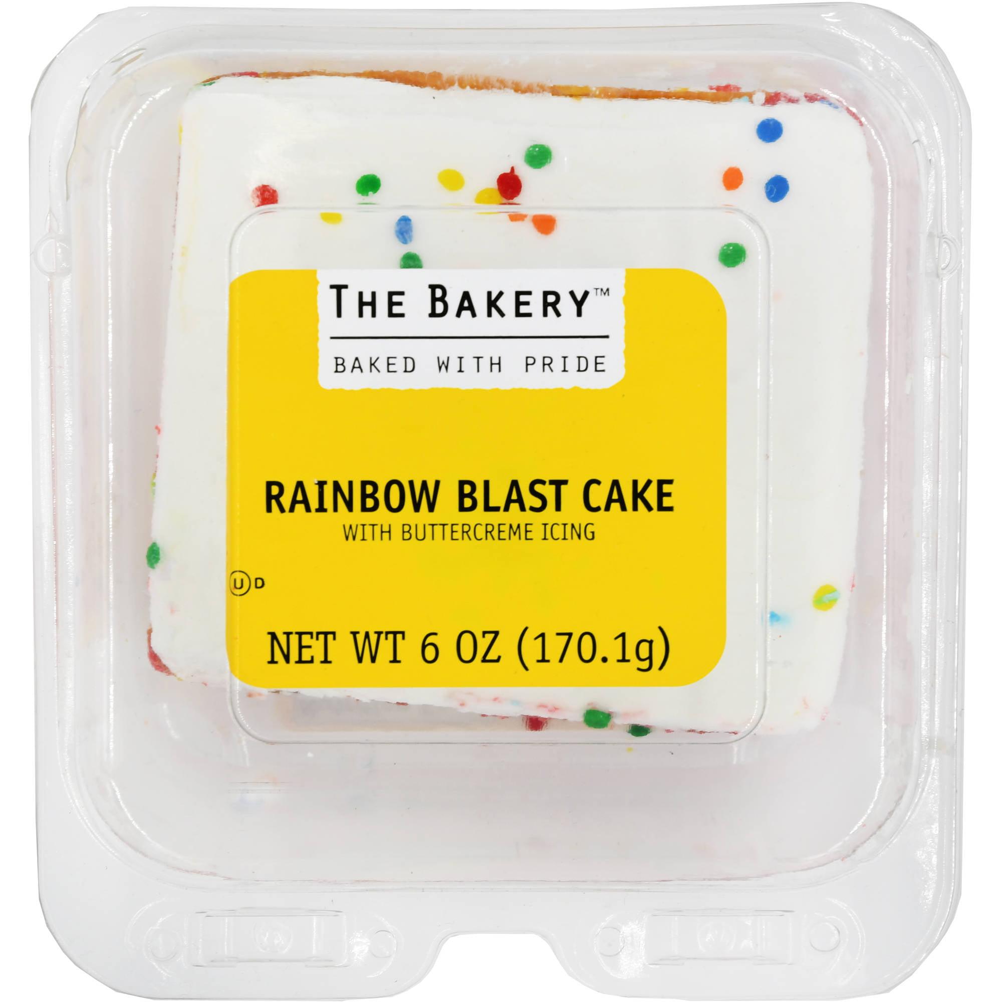 the bakery at walmart rainbow blast square cake 6 oz