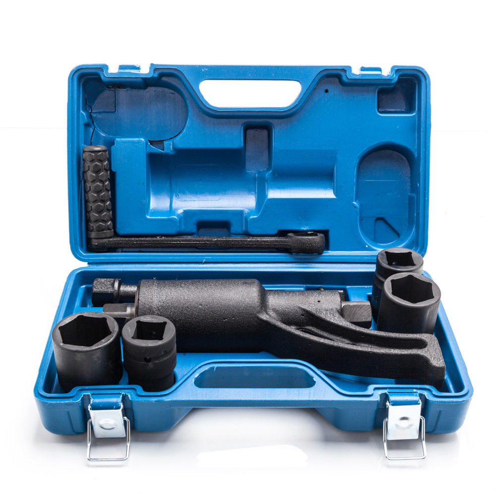 Ktaxon Torque Multiplier Set Wrench Lug Nut Lugnuts Remover Labor Saving Tools Heavy Duty, 4 Socket with Case, 68:1