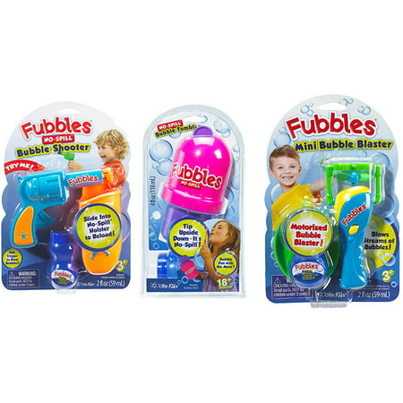 Little Kids Inc Fubbles Ez 2 Do 3 Piece Bubble Set Iii