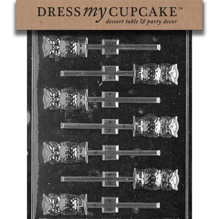 Chocolate Orange Halloween Cupcakes (Chocolate Candy Mold, Owl Lollipop, Halloween, Classic, FDA approved plastic chocolate mold; Search for over 3000 other designs by Dress My Cupcake By Dress My)