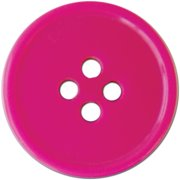 "Slimline Blumenthal Buttons 3/4"" Fuchsia 3pc"