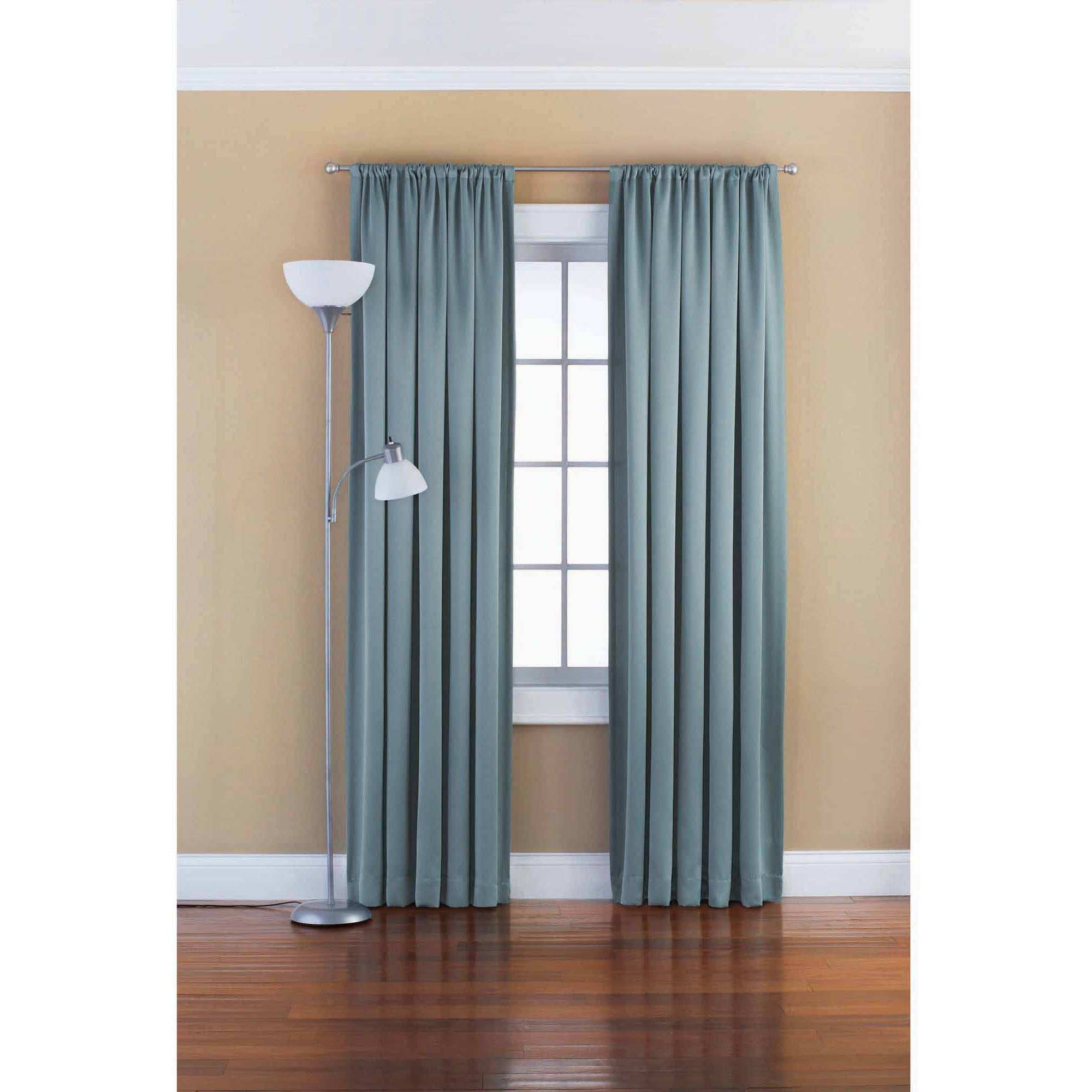 Mainstays Chevron Polyester Cotton Curtain With BONUS Panel Available In Multiple Colors And Sizes