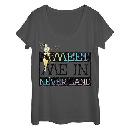 Peter Pan Peter Pan Womens Tinker Bell Meet Me Scoop Neck T Shirt