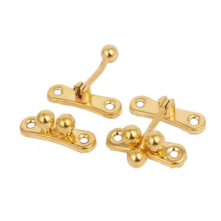 Gift Box Case Suitcase Alloy Toggle Latches Hasps Gold Tone 39x38x14mm 10pcs - image 1 of 2
