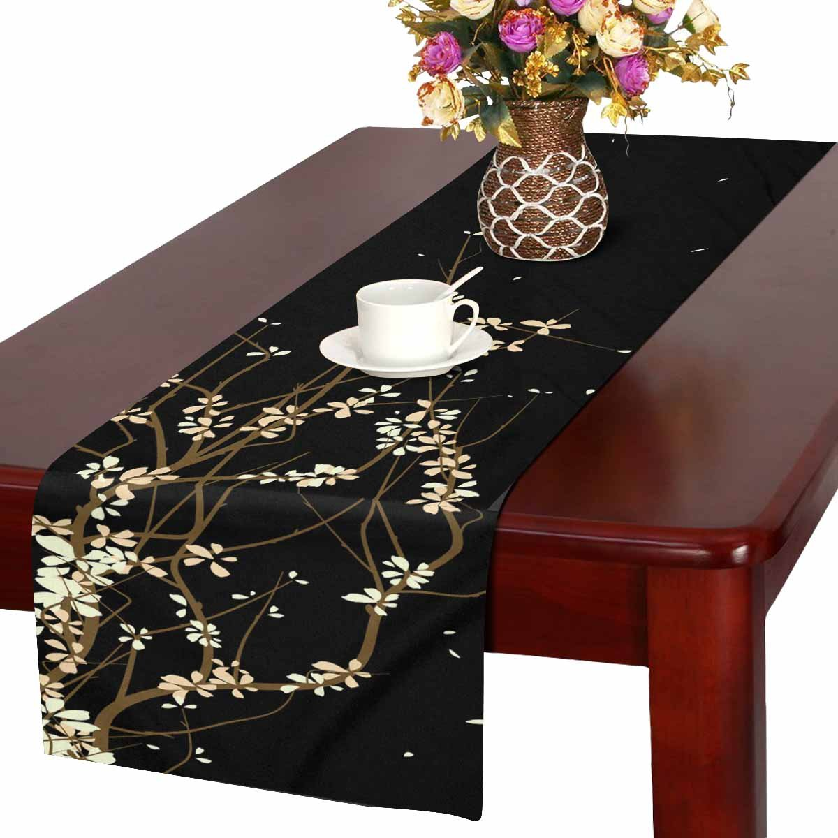 Mkhert Abstract Drawing Table Runner For Wedding Party