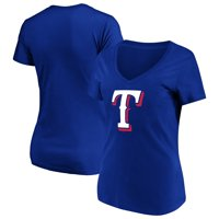 Women's Majestic Royal Texas Rangers Top Ranking V-Neck T-Shirt