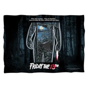 Friday The 13Th Poster Poly 20X28 Pillow Case White One Size