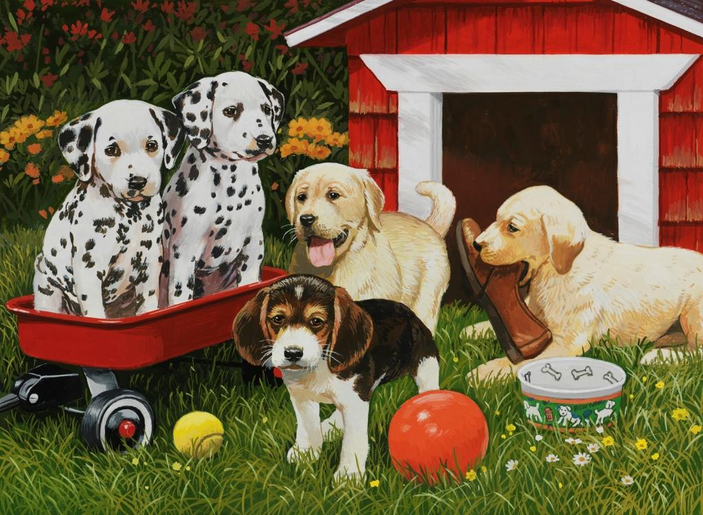 Puppy Party 60 PC Puzzle (Other) by Generic