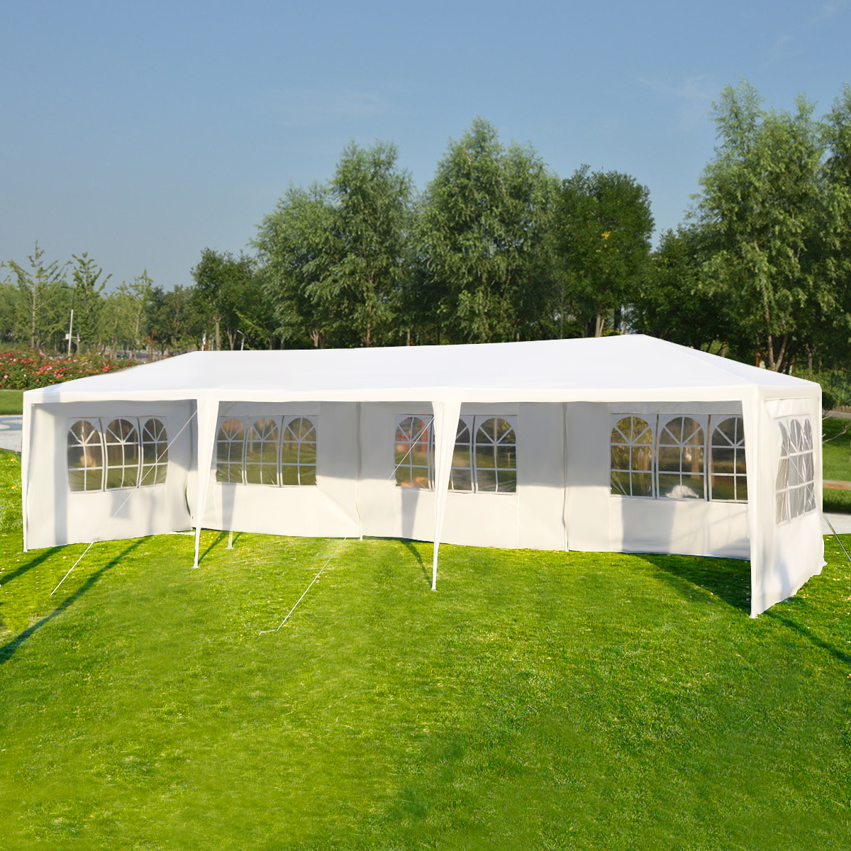 Costway 10u0027x30u0027 Party Wedding Outdoor Patio Tent Canopy Heavy duty Gazebo Pavilion Event & Outdoor Canopy Cover
