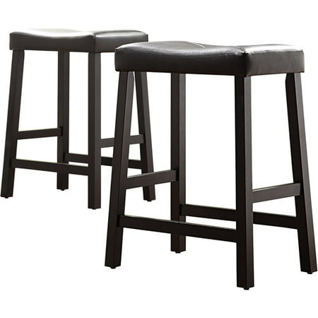 Hahn 24 Quot Counter Height Saddle Stools Set Of 2 Black