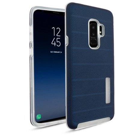 new product 0218a ea9d1 MUNDAZE Blue Fusion Series Hybrid Case For Samsung Galaxy S9 Phone
