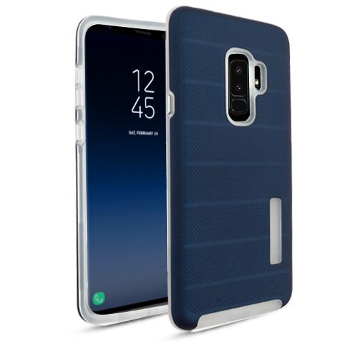 MUNDAZE Blue Fusion Series Hybrid Case For Samsung Galaxy S9 PLUS Phone