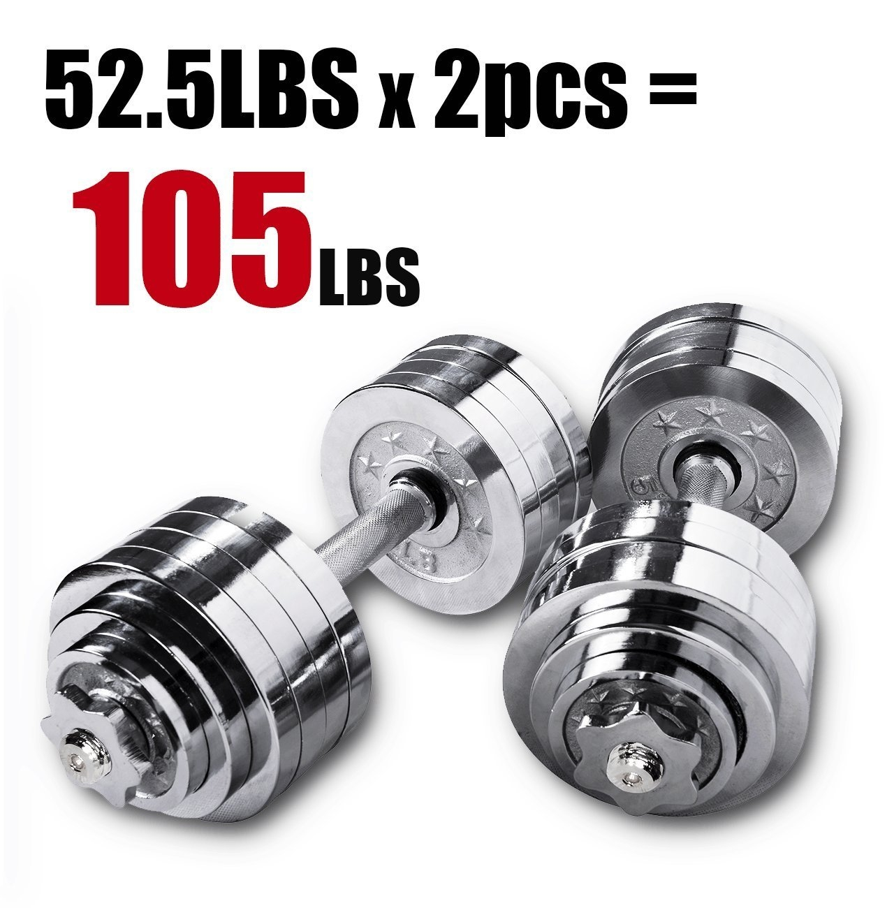 Starring 65 105 200 Lbs adjustable dumbbells