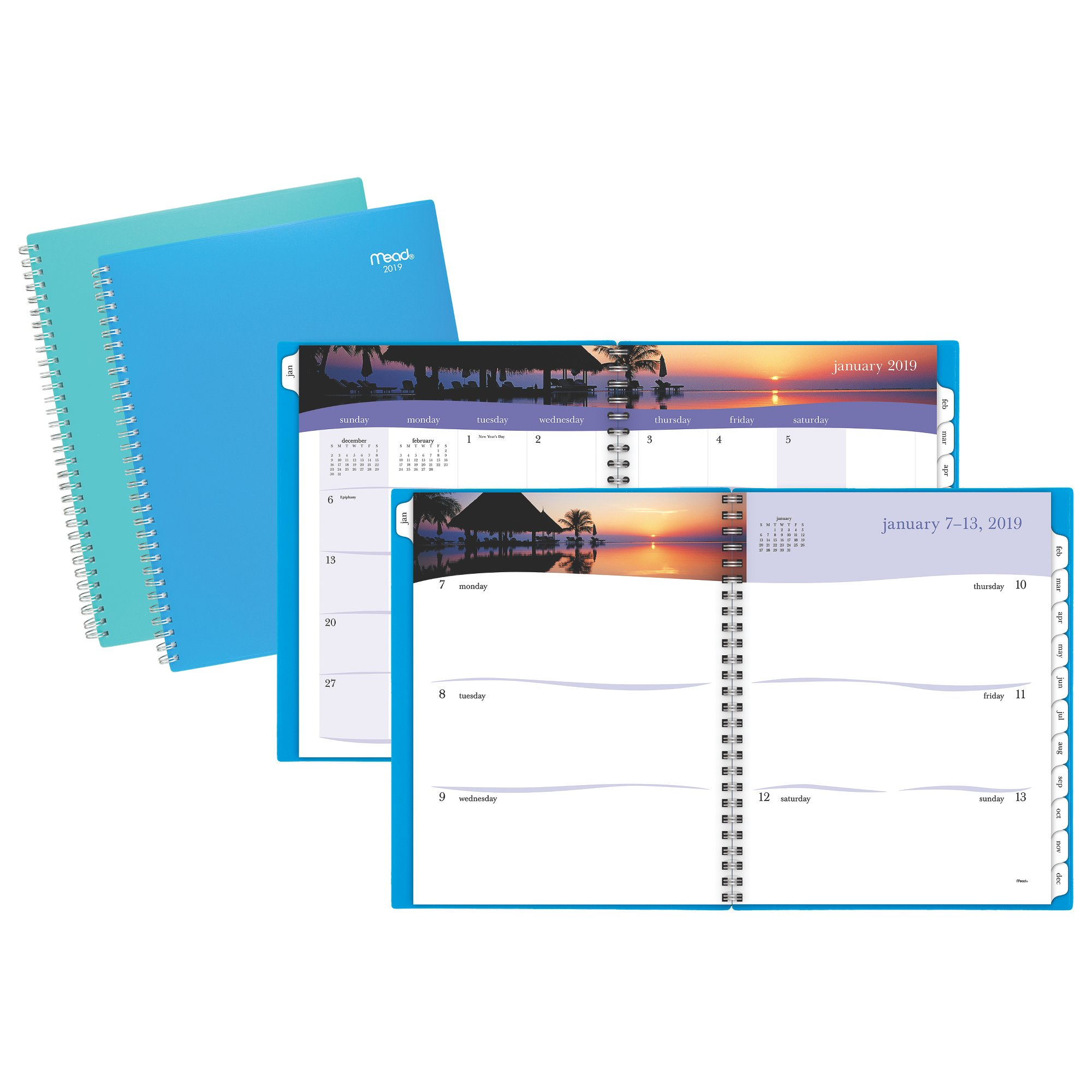 Mead Tropical Weekly-Monthly Planner - Clearance Calendars