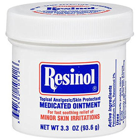 2 Pack Resinol Medicated Ointment for Skin Irritattions 3.3oz Each