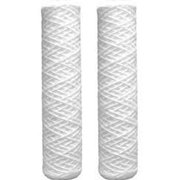 2 Pack Compatible to Genesis Water Technologies GWT-PE-10P-.5 Polyester String-Wound Replacement Sediment Filter 0.5 Micron by CFS