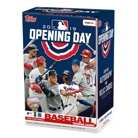 Topps Mlb Box - 2019 TOPPS MLB OPENING DAY BASEBALL VALUE BOX |LOOK FOR AUTOGRAGHS AND RELIC CARDS! | 77 CARDS TOTAL