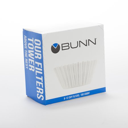 (6 Pack) Bunn 8-12 Cup Coffee Filters, 100 (Blend Coffee 4 Cup Filter)