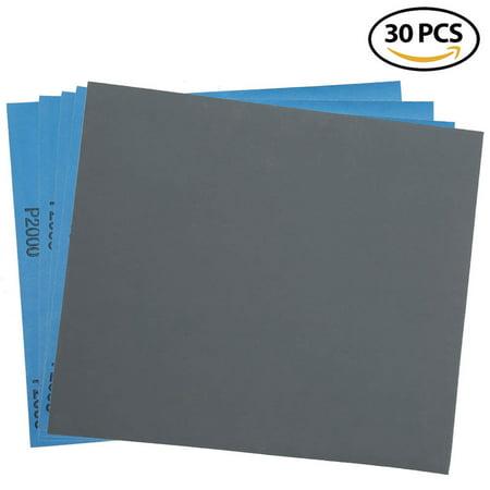 2000 Grit Dry Wet Sandpaper Sheets - 9 x 11