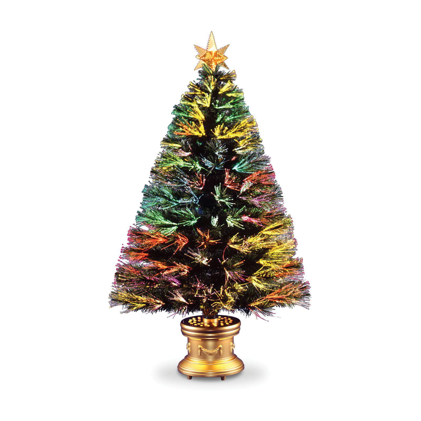 Fiber Optic Firework Evergreen Christmas Tree - Walmart.com