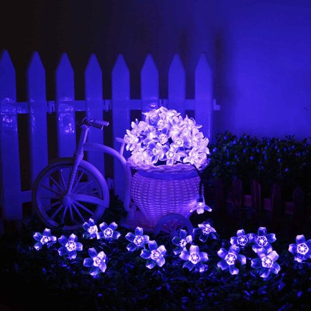 AGPtek Waterproof 50 LED Solar Powered Blossom String Lights for Gardens Lawn Patio Christmas Trees