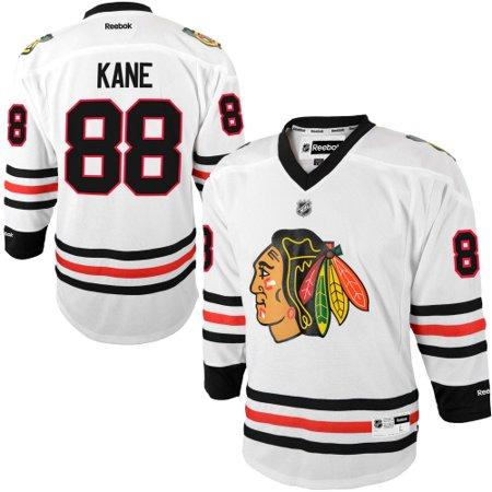 fec586196 Patrick Kane Chicago Blackhawks Reebok Youth Replica Player Hockey Jersey -  White - Walmart.com