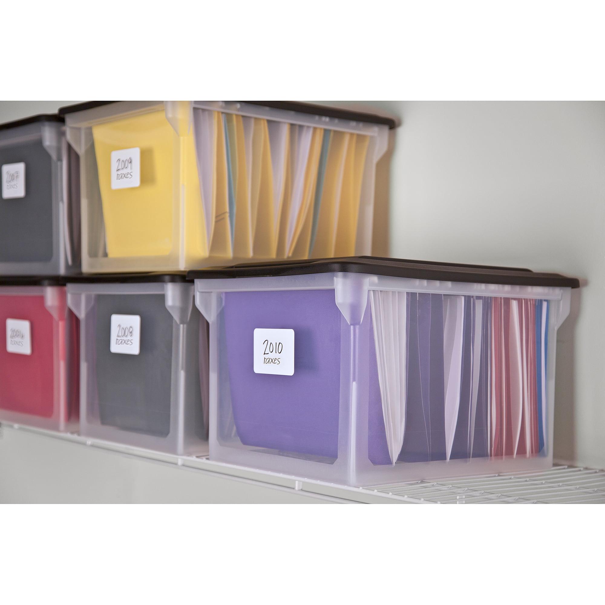 Hanging Files For Filing Cabinets Sterilite Legal Letter File Box Walmartcom