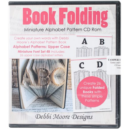 Debbi Moore CD Rom Book Folding Patterns-Times New Roman Alpha 4B, Mini Upper