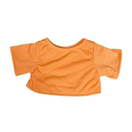 Orange T-Shirt Teddy Bear Clothes Fits Most 14