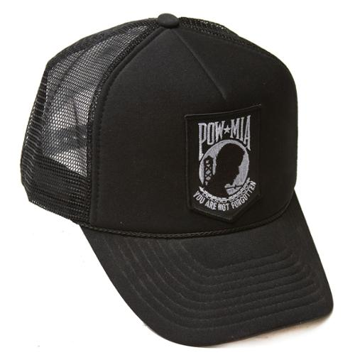 Delux 3D Patch Embroidery Trucker Hat, POW*MIA