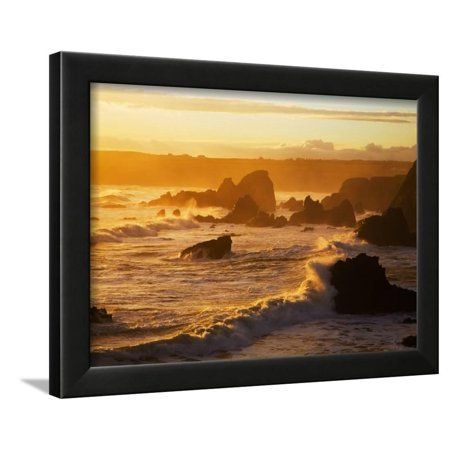 Westerly View, from Bunmahon, the Copper Coast, County Waterford, Ireland Framed Print Wall Art