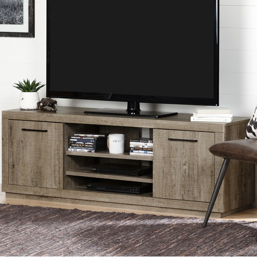 """South Shore Kanji TV Stand for TVs up to 60"""" Weathered"""