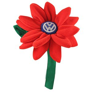 VW Volkswagen Plush Daisy Flower for Vase (Red Flower Vase)