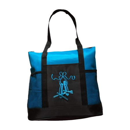 Girls Dance Ballet Slipper Tote Bag (Turquoise) - Pink Beach Bag