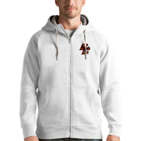 White Boston Sweatshirt (Boston College Eagles Antigua Victory Full-Zip Hoodie - White)
