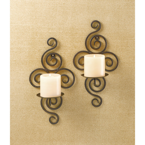 Eastwind Gifts 32402 Wrought Iron Candle Wall Sconces by Koolekoo
