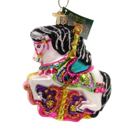 Carousel Horse Prop (Old World Christmas CAROUSEL HORSE Glass Ornament)