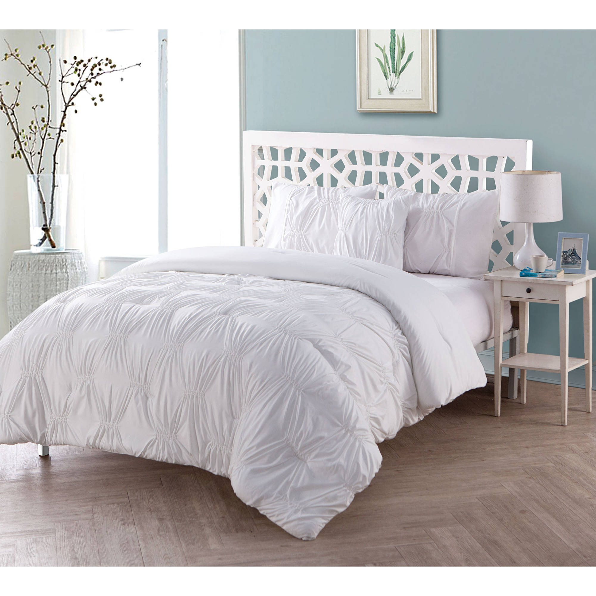 VCNY Home Monica Solid Textured Bedding Comforter Set, Multiple Colors Available