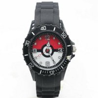 Pokemon Pokeball Silicone Band Wrist Watch