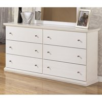 Ashley Furniture Bostwick Shoals 6 Drawer Wood Double Dresser in White