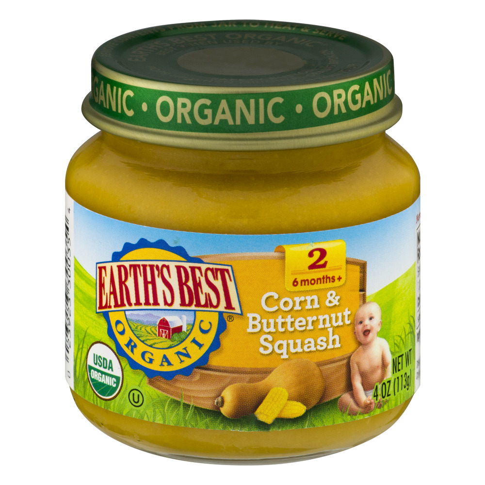 Earth's Best Organic Stage 2 Corn & Butternut Squash, 4.0 OZ