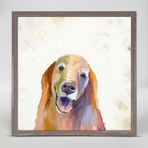 Winston Porter 'Best Friend - Golden Retriever' Framed Acrylic Painting Print on Canvas