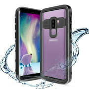 Galaxy S9 Waterproof Case, Shockproof Built-in Screen Protector Case Full-Body Rugged Resistant Protective Hard Cover For Samsung Galaxy S9, Black